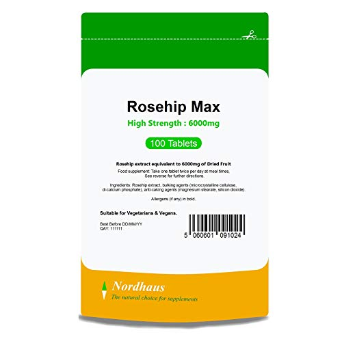 Rosehip Max Tablets 6000mg | 100 Pack