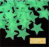 200 adesivi da parete con stelle luminose, autoadesivi, fluorescenti, per la decorazione della cameretta dei bambini o camera da letto