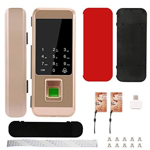 Cerradura de huella dactilar para puerta de cristal, 125 KHz, RFID Smart Control remoto (huella digital + contraseña + tarjeta de identificación)