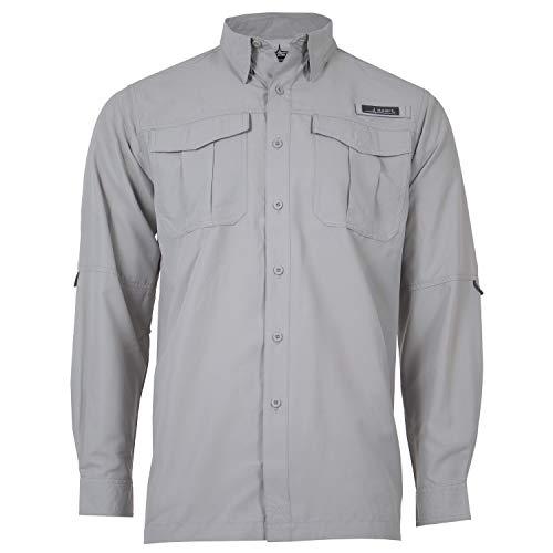 HABIT Men's Belcoast Long Sleeve River Guide Fishing Shirt, Dusk (High Rise), X-Large