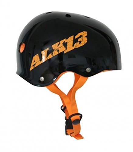 Alk13 Casco Helmet H2O Plus for Skate BMX Rollers. Black Orange S (49-52cm)