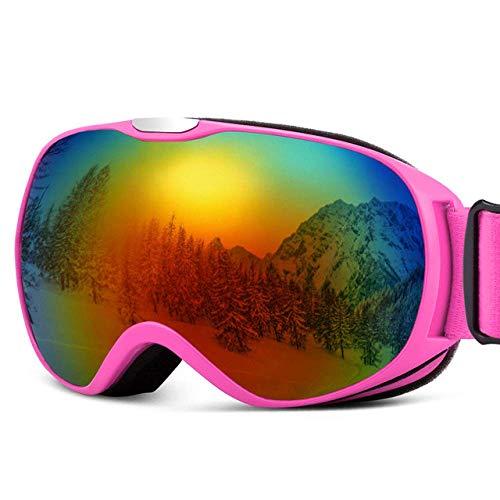AIOXY Skibrille Kinder-Skibrille Anti-Fog-Doppelglas-Schneebrille Brillen für den Wintersport...