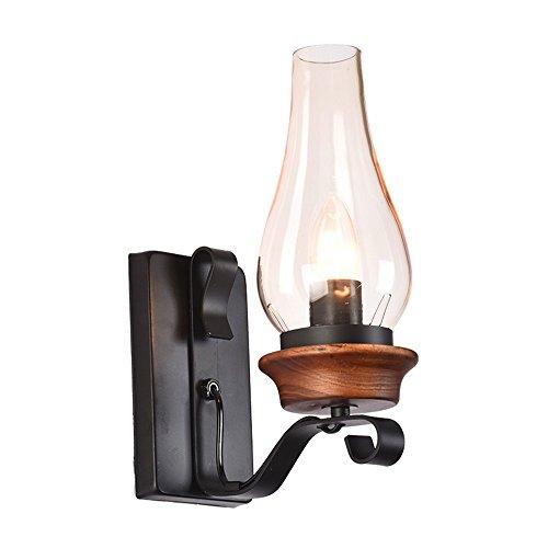 WEXLX Mur de fer rétro lampadaires lampe pour la largeur de la barre d'allée20 cm hauteur 30 cm