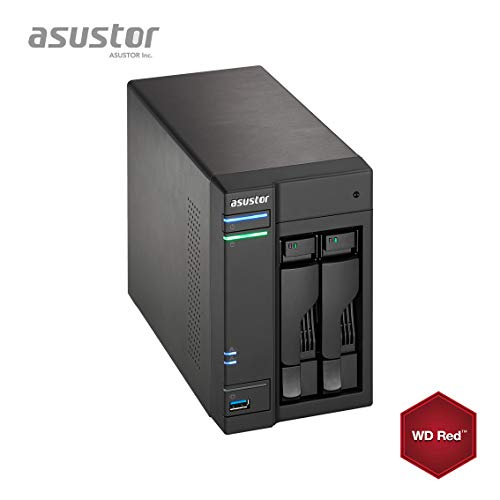 Asustor AS6302T 8GB NAS 24TB (2x 12TB) WD RED