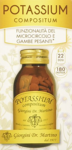 Dr. Giorgini Integratore Alimentare, Potassium Compositum Pastiglie - 90 g