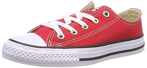 Converse Jr. Chuck Taylor All Star Print Ox Ash Grey/Casino Denim 651700F (1 M US Little Kid, Red)