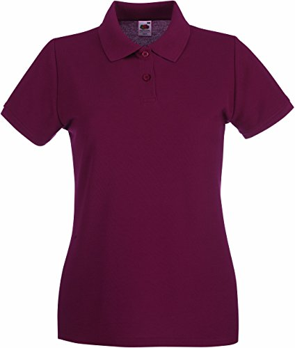 Fruit of the Loom Lady-Fit Premium Poloshirt 2017 M Burgundy