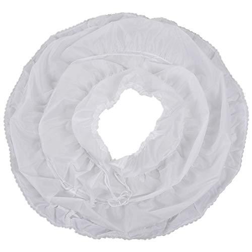 Fransande Blanco Niños Enaguada Una Línea De 3 Aros De Una Capa De Los Niños Crinoline Encaje Trim Flor Vestido De Niña Bajo Falda Cintura Elástica