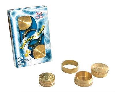 Magic Dynamic Coins - Zaubertrick mit Euro-Münzen | Geldstücke erscheinen, verschwinden und wandern ohne jegliche Fingerfertigkeit | Zaubertricks und Zauberartikel aus Messing | Geld zaubern lernen
