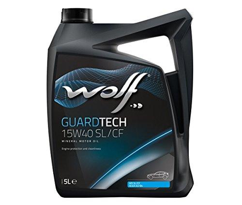 Bidón de 5 litros de aceite 15W40 Wolf 8300318 motor