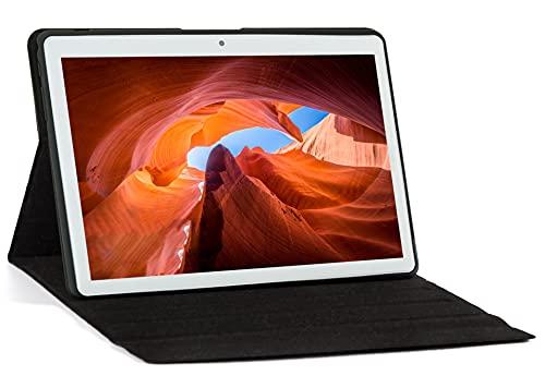 "KISEDAR Tablet Android 10.0 10.1 ""PC4GB RAM 64GB Tablet Tableta desbloqueada de Cuatro núcleos, Adecuada para teléfono móvil 3G, Ranura para Tarjeta SIM de Doble cámara, Bluetooth, GPS, WiFi"