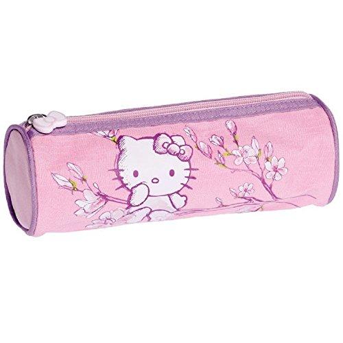 Hello Kitty - Trousse Fourre Tout Ronde Rouge -...