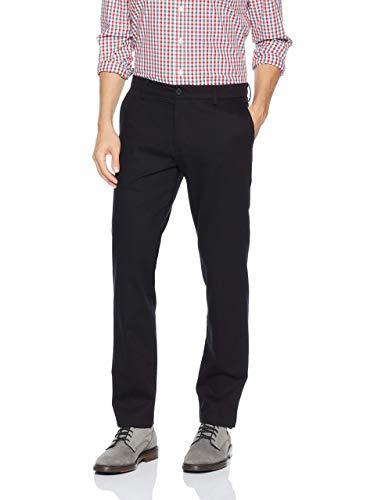 DOCKERS Men's Slim Fit Signature Khaki Lux Cotton Stretch Pants, Black, 31W x 30L