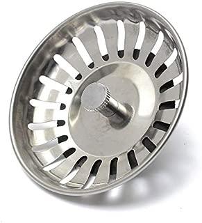 Sink Strainer 1Pcs Stainless Steel Replacement Strainer 83Mm Kitchen Water Basin Sink Drainer Strainer Leach Basket Waste Plug Stopper Filter