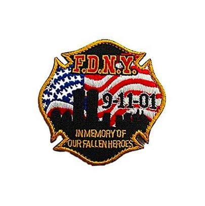 F.D.N.Y 9-11-01 911 in Memory of Our Fallen Heroes Team Embroidered Decorative Patch