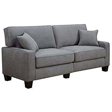 Serta RTA Palisades Collection 78  Sofa in Glacial Gray