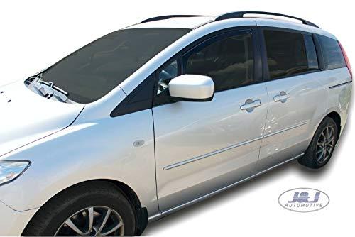 J&J AUTOMOTIVE Windabweiser Regenabweiser für Mazda 5 ab 5-türer 2006 2tlg HEKO dunkel