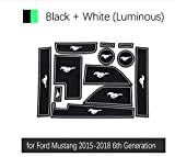 linfei Alfombrilla Antideslizante con Ranura para Puerta De Goma para Ford Mustang 2015-2019 6Ta Generación S550 Ecoboost Export GT Accesorios Etiqueta