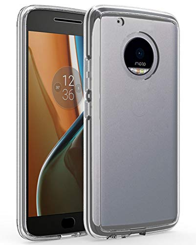ShinyMax Moto G5 Plus Case,Moto G5 Plus Phone Case, Transparent Hybrid Armor Protective Cover Sturdy Shockproof Slim Case Compatible with Motorola Moto G5 Plus -Clear