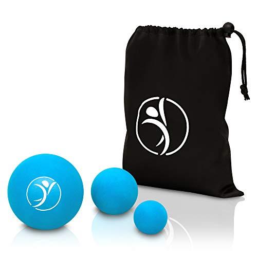 diRiva PREMIUM Faszienball [3er Set] ● Massageball Set in verschiedenen Größen ● inkl. E-Book ● mit praktischer Tasche, großer und mittlerer Faszienball, kleiner Mobility Ball ● Triggerpoint