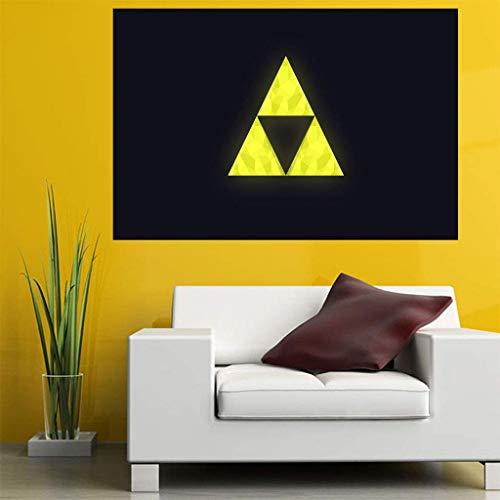 YXZQ Janpanese Video Game The Legend of Zelda Impreso PVC Poster Wall Sticker (19.6 'y Tiempos; 27.5' / 50 y Tiempos; 70 cm) (Tamaño o impresión Personalizable) (Trifuerza, 50 x 70 cm)