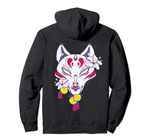 Japon Kitsune Máscara | Japones Anime | Kawaii Anime Otaku Sudadera con Capucha