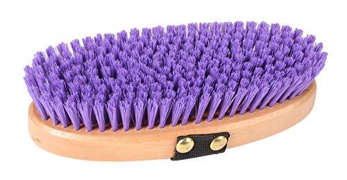 zachte borstel hout 17 cm paars