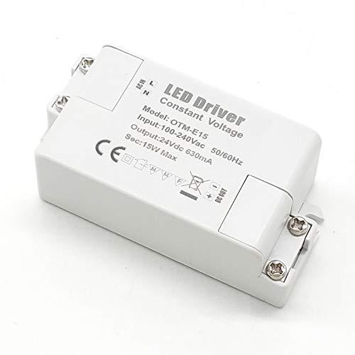 Adaptador LED VARICART IP44 24V 0.625A 15W, Fuente de Alimentación Conmutada Regulación AC DC, Transformador Constante Voltaje, Cámara CCTV, Tira de Luz, G4 MR11 MR16 GU5.3 Bombilla (Pack de 2