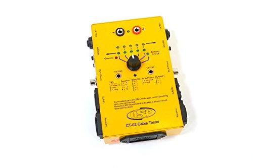 "OSP CT-02 Cable Tester XLR, 1/4"" TRS, Speakon, RCA, MIDI/DIN"