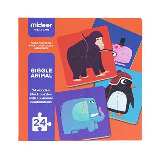 HXF- Puzzle Rompecabezas de Madera Grande de niños del tráfico de Animales bebés educación temprana Juguetes educativos de niños y niñas 1-2-3 Años de Edad Interactivo (Color : Animal)