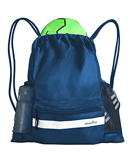 Athletico Drawstring Soccer Bag - Fußballrucksack für Jungen oder Mädchen kann auch Basketball oder Volleyball tragen (blau)