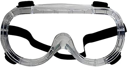 RK Safety GG101 Heavy duty Industrial Protective Chemical Splash Safety Goggles, Glasses | Crystal Clear, Anti-Fog Design, High Impact Resistance | Perfect Eye Protection for Any Project (1 Ea, GG101)