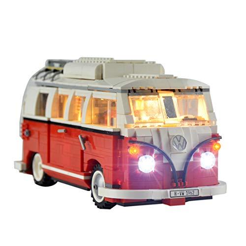 ZUJI LED Luces para Lego 10220 Creator Expert Furgoneta Volkswagen T1 Camper Van - USB Alimentado (Modelo No Incluido)