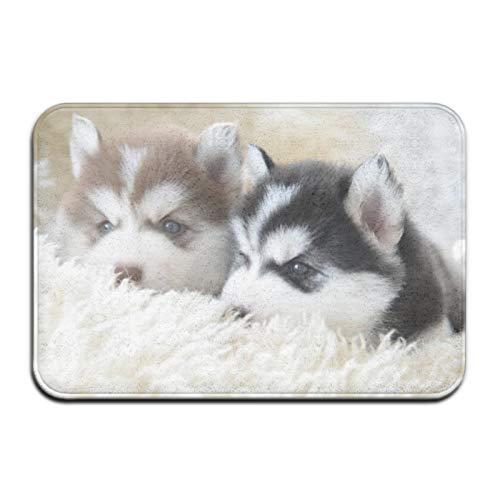 Siberian Husky - Alfombra antideslizante para 4 puertas, alfombra de baño, cocina, alfombra absorbente
