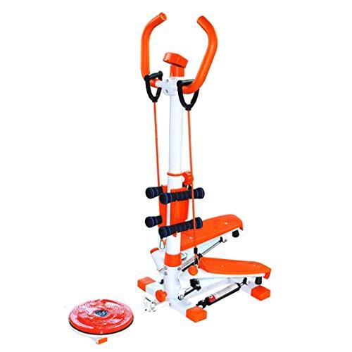 LZP-PP La pérdida de Pasos de Paz Inicio Peso máquina Multi-Funcional Que Adelgaza Gira Gym Fitness Equipo de Comercio Teniendo 100kg con Pesas (Color: Naranja, tamaño: 92 * 50 * 120 cm)