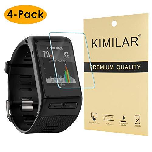 KIMILAR Pantalla Compatible con Garmin Vivoactive HR Protector, 4 Unidades Protector de Pantalla [Cristal] [2.5D Borde Redondo] [9H Dureza] Pelicula Protectora Vidrio Templado para Vivoactive HR