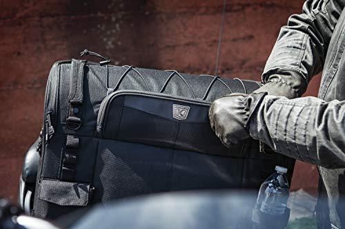 Kuryakyn 5286 Momentum Wanderer Motorcycle Travel Luggage: Weather Resistant Touring Seat Bag, Black