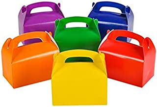 Tytroy Cardboard Bright Rainbow Colored Party Favor Treat Boxes (12 Pieces)