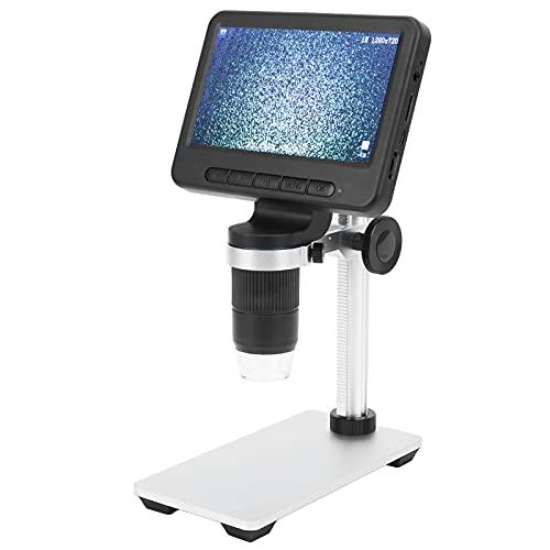 Microscopio digital, microscopio electrónico de 5 pulgadas, práctico de alta calidad, resistente para inspección industrial