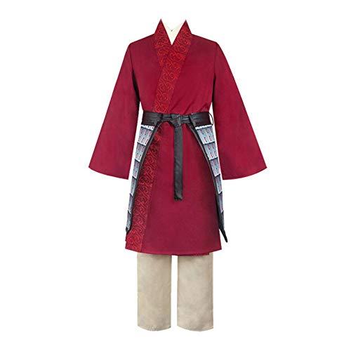 Naixin Disfraz de Hua Mulan para Mujer Heroína China Vestir Ropa Halloween Cosplay Fiesta Princesa Disfraz para niños Adultos