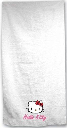 Hello Kitty toalla blanca con bordado tamaño 70 x 140 cm en las