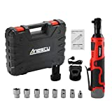 Anesty 3/8' Cordless Electric Ratchet Wrench Set with 7 Sockets 1/4' Adapter, 2000 mAh Lithium-Ion Battery, Fast Charger