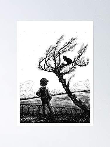 Póster de Coraline y el gato 11.7 x 16.5
