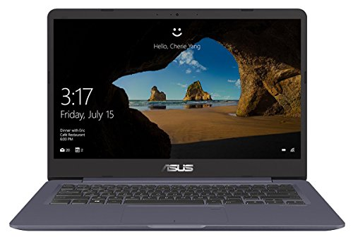 Asus VivoBook S14 S406UA 90NB0FX2-M01230 35,6 cm (14 Zoll HD matt) Notebook (Intel Core i5-8250U, 8GB RAM, 256GB SSD, Intel UHD Graphics, Windows 10) grau metall