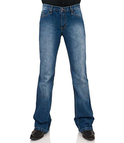 Jeans Bootcut Hose Star Cut used Hüftjeans, Blau, 36W / 34L