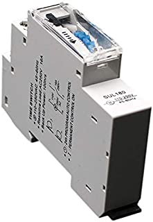 Summerwindy Sul180A 15 Minutos Temporizador Mecánico 24 Horas Programables Din Interruptor Temporizador De Riel Interruptor De Tiempo Medición Análisis Instrumentos Nuevo