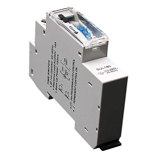 REFURBISHHOUSE Sul180A 15 Minutos Temporizador Mecánico 24 Horas Programables DIN Interruptor Temporizador De Riel Interruptor De Tiempo Medición Análisis Instrumentos Nuevo