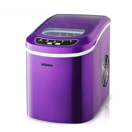Jian Ya Na Stainless Steel Commercial Ice Maker Portable Ice Machine for Restaurant Household (Purple)