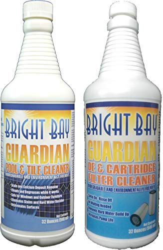 Guardian Pool & Tile Cleaner (32 oz.) - Removes Scale & Scum Line Plus Filter Cleaner (32 oz.) - 2 pk, Non-Abrasive, Saves Elbow Grease on Tiles!