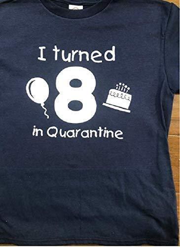 Amazon Com Quarantine Birthday Shirt Any Age T Shirt For Kids Social Distance Funny Birthday Toddler Tees Handmade